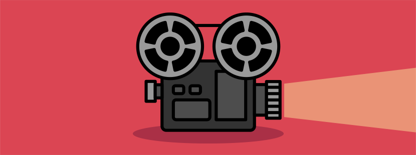 Illustration of a video projector.